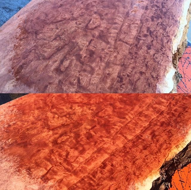 Eucalyptus slab 108 live edge tropical exotic hardwoods for Finished wood slabs