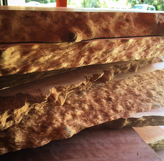 Eucalyptus slab 157 live edge tropical exotic hardwoods for Finished wood slabs