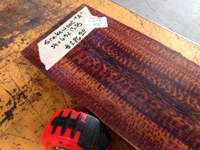 Snakewood Log Bsna Tropical Exotic Hardwoods