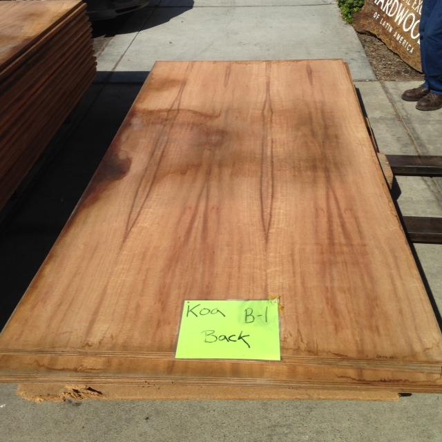 Koa 3 4 Quot 2 Sided Veneer Plywood B 1 Tropical Exotic