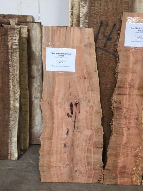 Tasmanian rose myrtle slab 1 live edge tropical exotic for Finished wood slabs