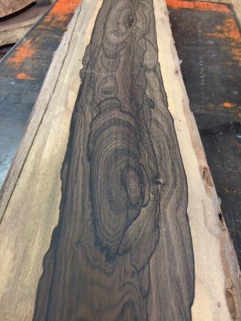 Ziricote slab 21 live edge tropical exotic hardwoods for Finished wood slabs
